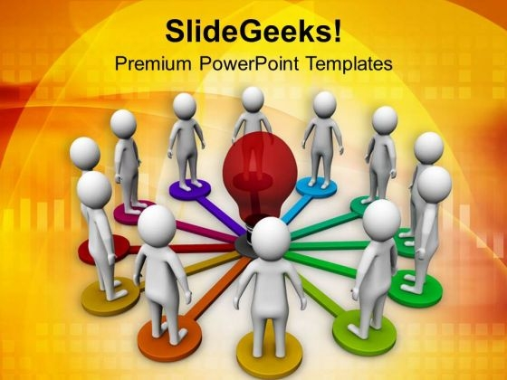 Discussion For A New Business Concept PowerPoint Templates Ppt Backgrounds For Slides 0713