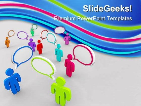 Disorganized Communication PowerPoint Backgrounds And Templates 1210