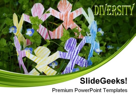 Diverse Community Communication PowerPoint Themes And PowerPoint Slides 0411