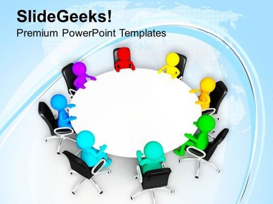 Diverse People In Business Meeting PowerPoint Templates Ppt Backgrounds For Slides 0513