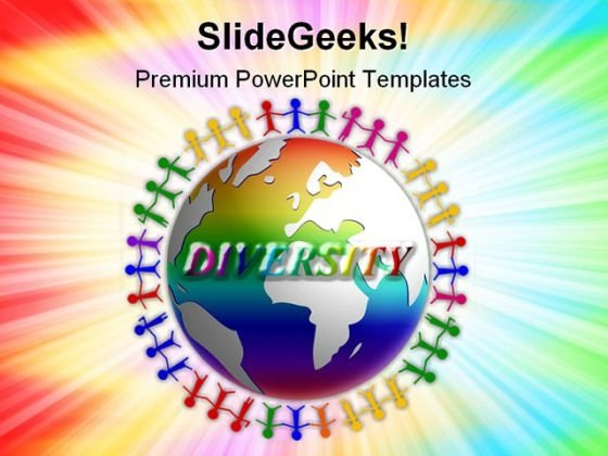 Diversity Around The World Globe PowerPoint Templates And PowerPoint Backgrounds 0311