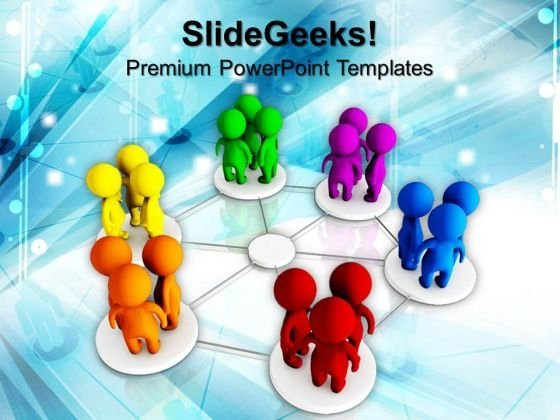 diversity networking communication powerpoint templates and, Modern powerpoint