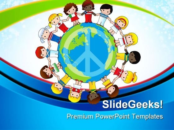 Diversity Of Children Global PowerPoint Templates And PowerPoint Backgrounds 0611