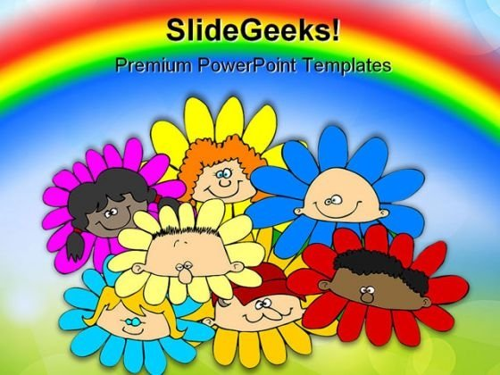 Diversity Of Flowers Children PowerPoint Templates And PowerPoint Backgrounds 0311
