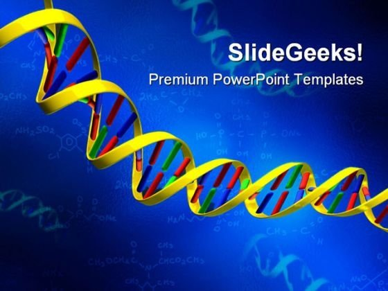 Dna Strand Medical PowerPoint Templates And PowerPoint Backgrounds 0511