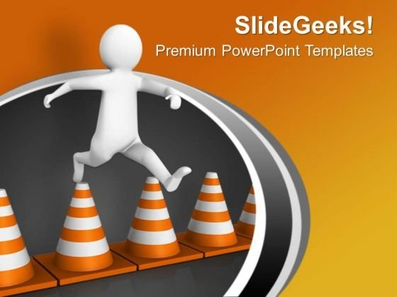 Do Not Jump Safety Line In Traffic Powerpoint Templates Ppt