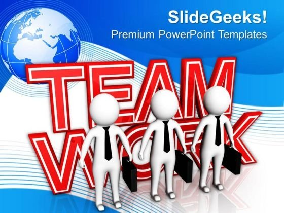 Do Teamwork For Financial Growth PowerPoint Templates Ppt Backgrounds For Slides 0713