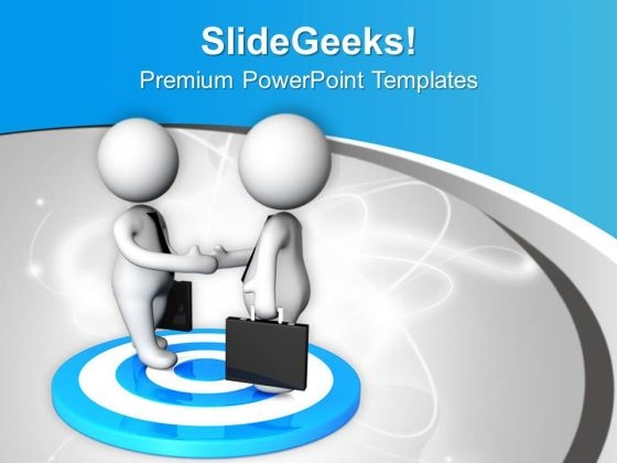 Do The Client Meetings For Target Achievement PowerPoint Templates Ppt Backgrounds For Slides 0613