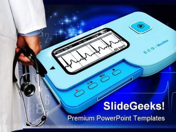 Doctor And Ecg Medical PowerPoint Background And Template 1210