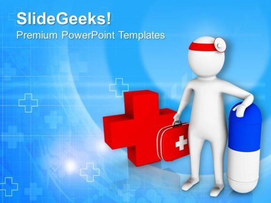 Doctor Is A Life Saver Medical PowerPoint Templates Ppt Backgrounds For Slides 0613