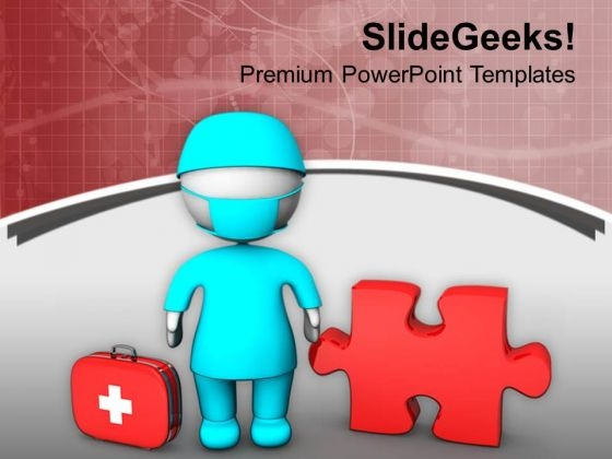 Doctor With Medical And Find The Problem PowerPoint Templates Ppt Backgrounds For Slides 0713