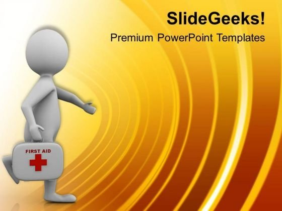 Doctor With Medical Box PowerPoint Templates Ppt Backgrounds For Slides 0513
