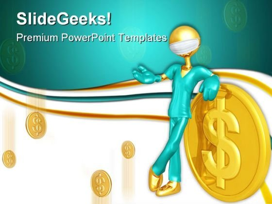 Doctor With Money Medical PowerPoint Templates And PowerPoint Backgrounds 0411