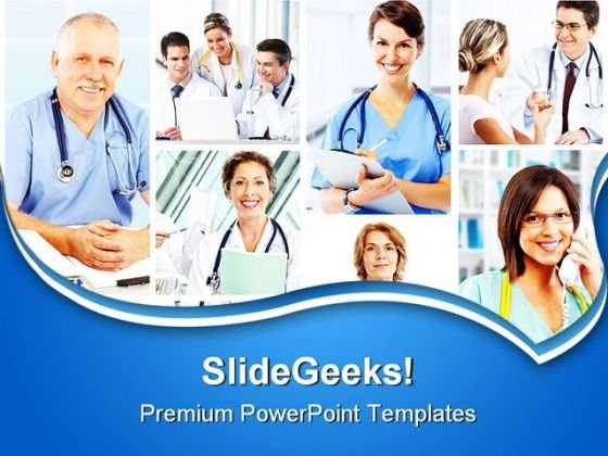 Doctors Collage Medical PowerPoint Templates And PowerPoint Backgrounds 0311