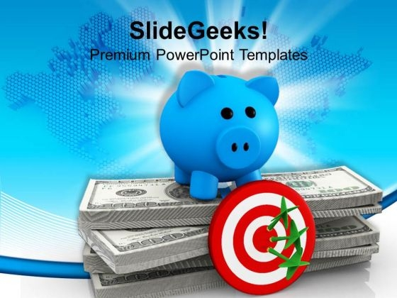 Dollar Achieved Target Business PowerPoint Templates Ppt Backgrounds For Slides 0113