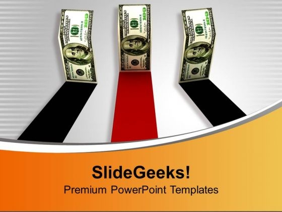 Dollar Bills Standing Straight Competition PowerPoint Templates Ppt Backgrounds For Slides 1112