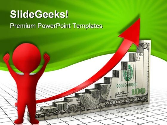 Dollar Charts With Arrow Finance PowerPoint Templates And PowerPoint Backgrounds 0411