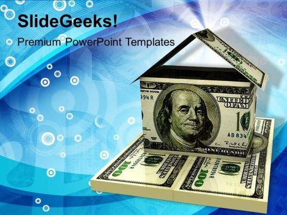 Dollar House Money Finance PowerPoint Templates And PowerPoint Themes 1112
