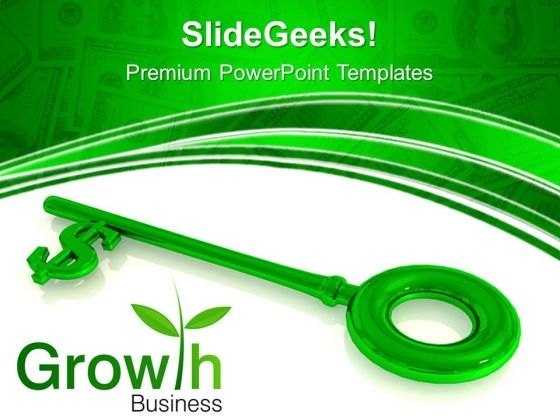 Dollar Key Growth Business PowerPoint Templates And PowerPoint Themes 0712
