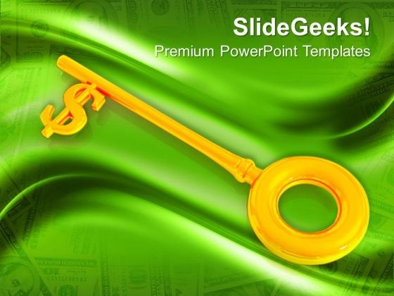 Dollar Key Success PowerPoint Templates And PowerPoint Themes 1012
