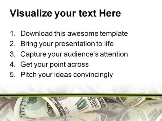 dollar money powerpoint template 0610 - powerpoint themes, Presentation templates