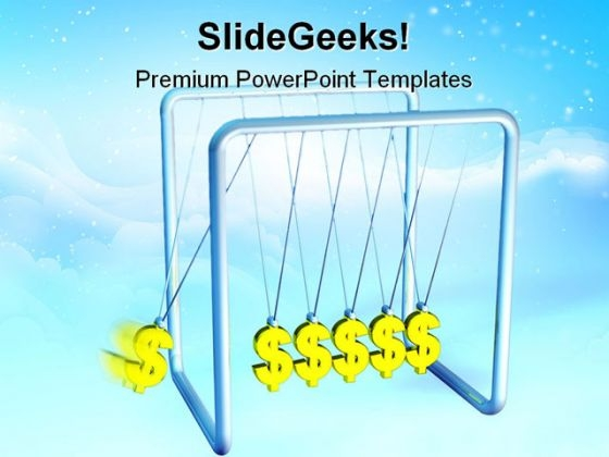 Dollar Pendulum Money PowerPoint Backgrounds And Templates 1210