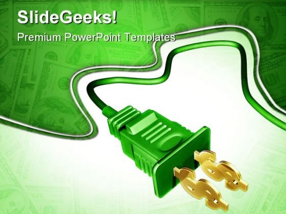 Dollar Plug Money PowerPoint Template 1110