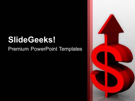Dollar Pointing Upwards Growth Business PowerPoint Templates Ppt Backgrounds For Slides 0413