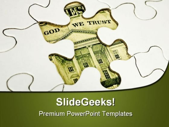 Dollar Puzzle Americana PowerPoint Themes And PowerPoint Slides 0511