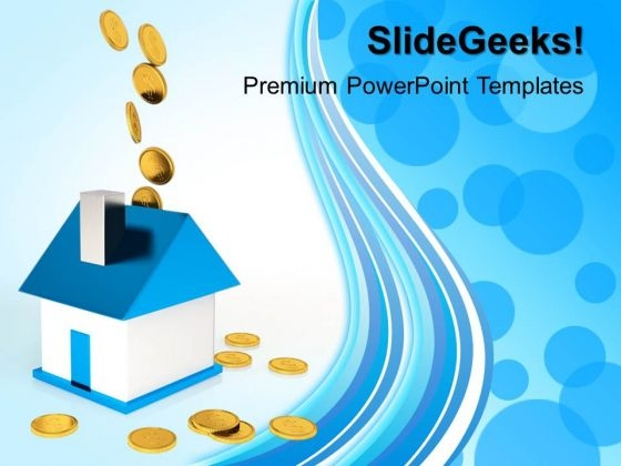 Dollar Saving Real Estate PowerPoint Templates And PowerPoint Themes 1012