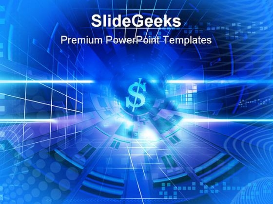 Dollar Sign Business PowerPoint Backgrounds And Templates 1210
