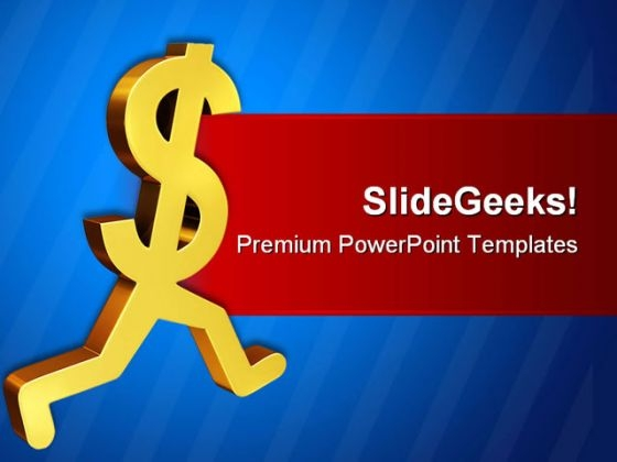 Dollar Sign Symbol PowerPoint Background And Template 1210