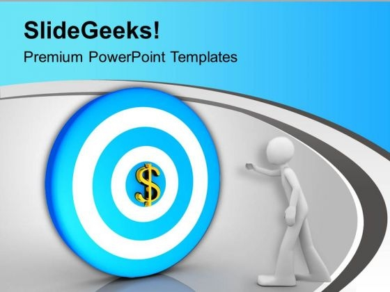 Dollar Target Business Concept PowerPoint Templates Ppt Backgrounds For Slides 0413
