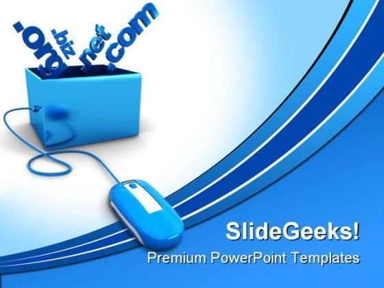 Domain Names Internet PowerPoint Themes And PowerPoint Slides 0211