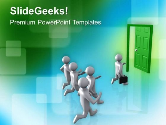 Door To New Opportunities And Success PowerPoint Templates Ppt Backgrounds For Slides 0513