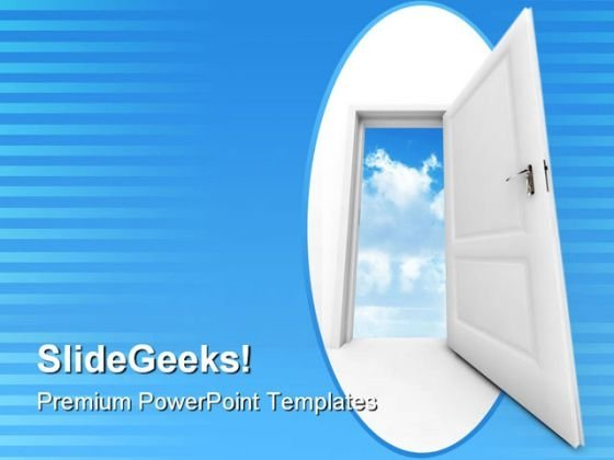 Door To Sky Success PowerPoint Themes And PowerPoint Slides 0811