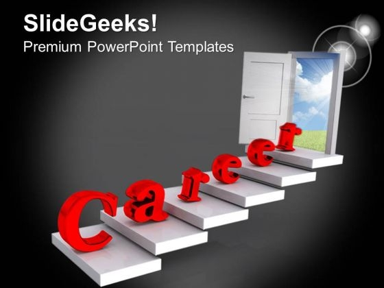 Door Towards Career And Success PowerPoint Templates Ppt Backgrounds For Slides 0413