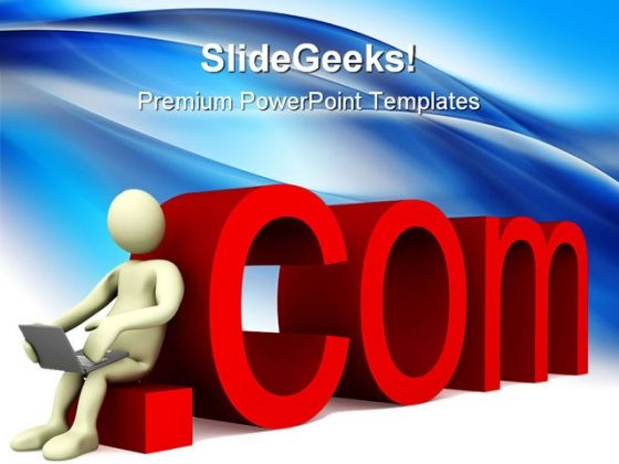 Dot Com Computer PowerPoint Themes And PowerPoint Slides 0511