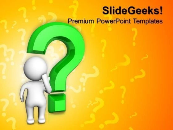 Doubtful Man With Question Symbol PowerPoint Templates And PowerPoint Themes 0912