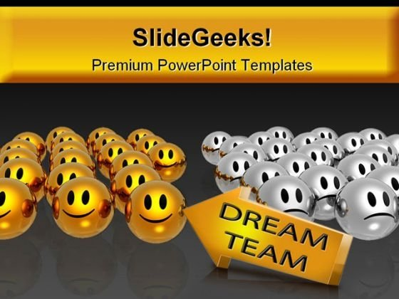 Dream Team01 Business PowerPoint Backgrounds And Templates 1210