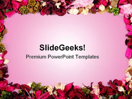 Dried Flowers Frame Background PowerPoint Themes And PowerPoint Slides 0611