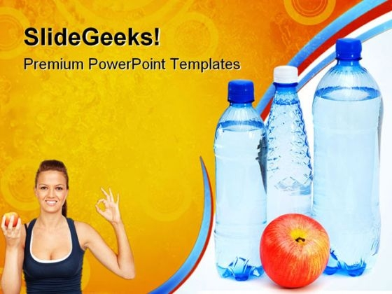 Drinking Water Health PowerPoint Templates And PowerPoint Backgrounds 0611