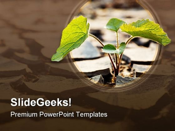Agriculture powerpoint themes drought plant nature powerpoint template 0810 toneelgroepblik Image collections