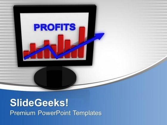 E-business Graph Progress Presentation Success PowerPoint Templates Ppt Backgrounds For Slides 0113