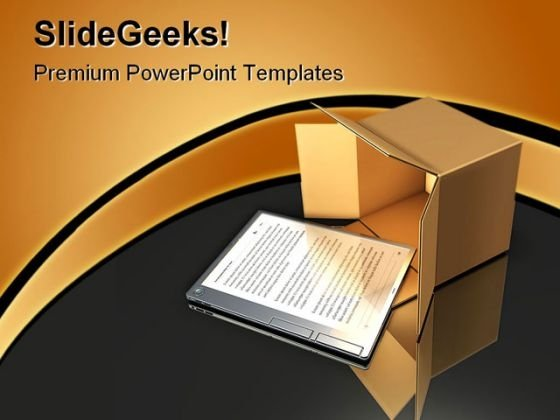 E Book Delivery Business PowerPoint Backgrounds And Templates 1210