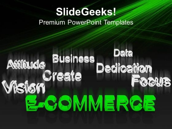 E Commerce At Forefront Business PowerPoint Templates And PowerPoint Themes 0912
