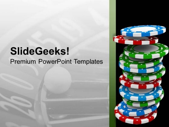 Earn More Poker Chips For More Money PowerPoint Templates Ppt Backgrounds For Slides 0613