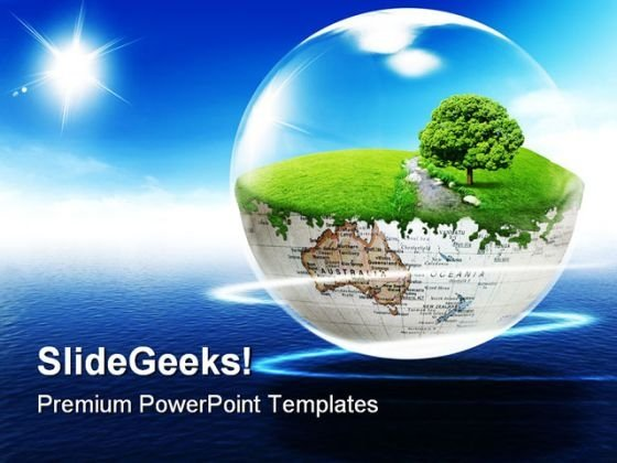 Earth Beauty PowerPoint Template 0610