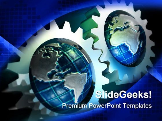 Earth Concept Gears Industrial PowerPoint Themes And PowerPoint Slides 0611