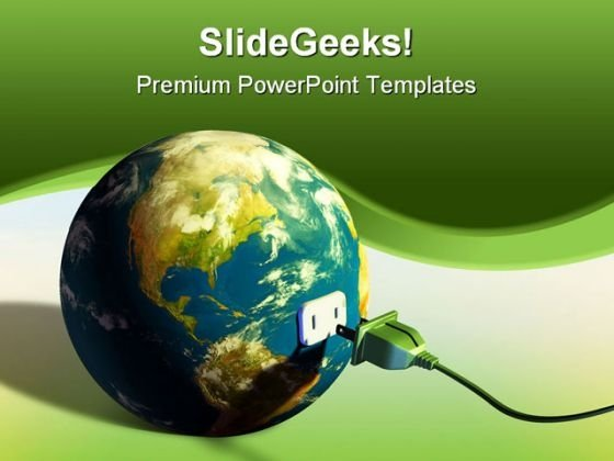 Earth Energy Global PowerPoint Template 0810